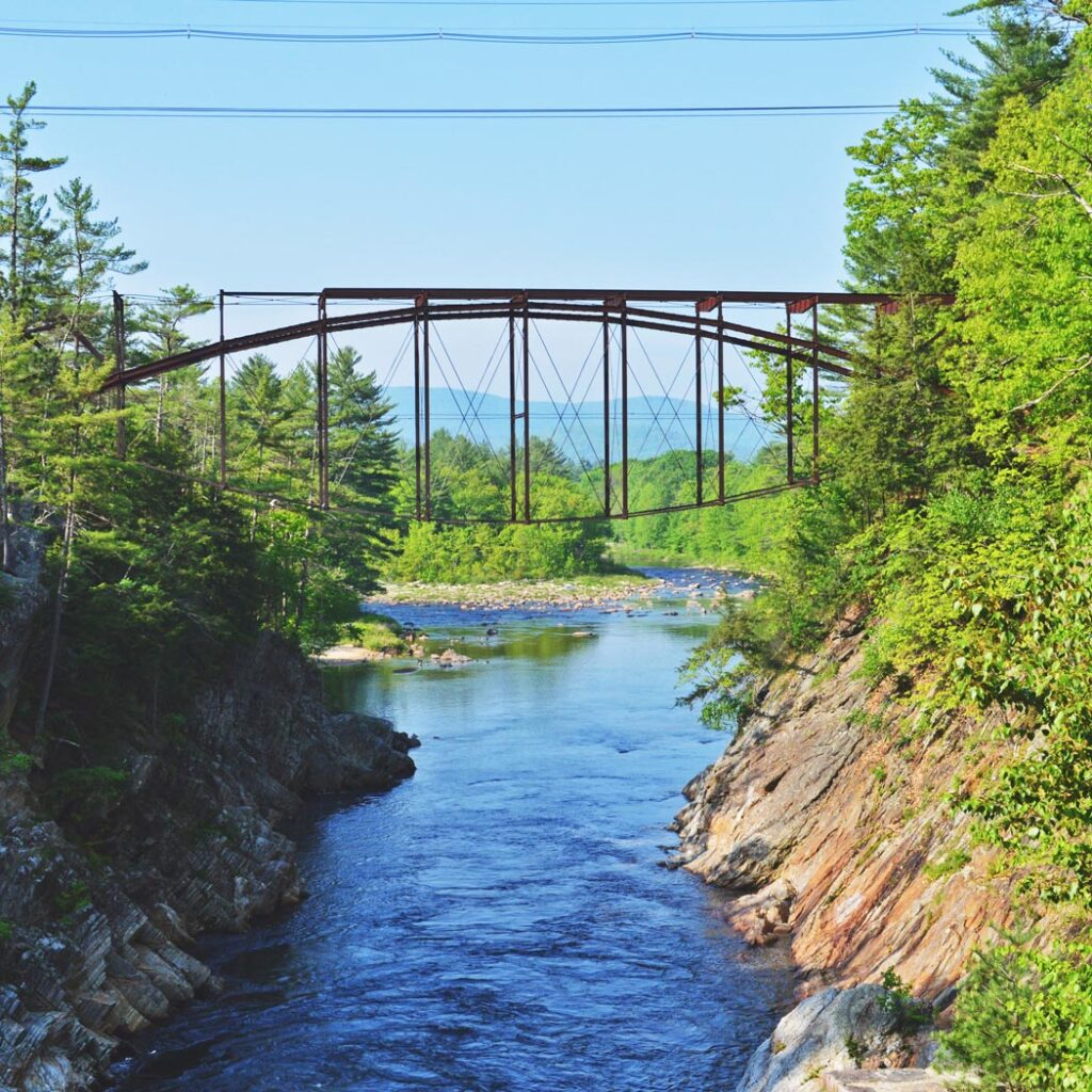Livermore falls bridge in Plymouth, NH